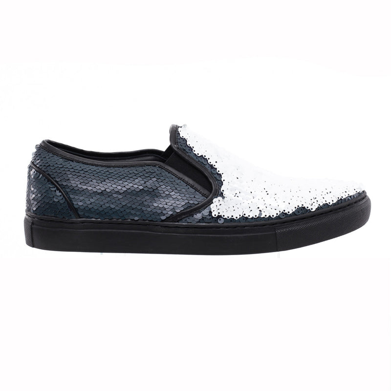 Juun.J Sequin Slip Ons at Feuille Luxury - 4