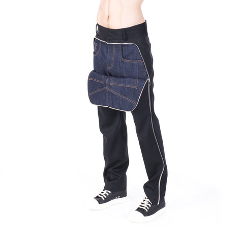 Juun.J Couture Half Denim Zip Pants at Feuille Luxury - 7