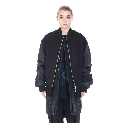 Juun.J Wool Double Layer Bomber at Feuille Luxury - 2