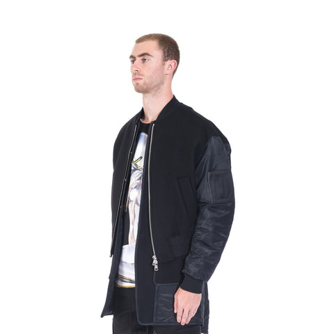 Juun.J Wool Double Layer Bomber at Feuille Luxury - 3