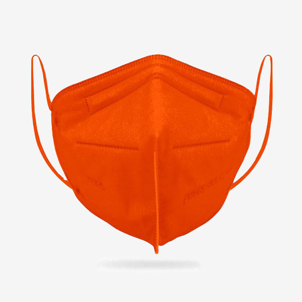 6-Ply KN95 Orange Protective Mask