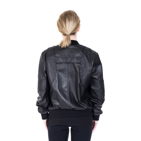 Marcelo Burlon Rawson Leather Bomber at Feuille Luxury - 6