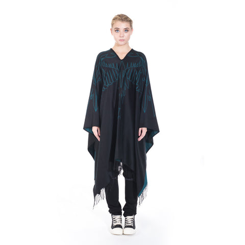 Marcelo Burlon Mai Poncho at Feuille Luxury - 1