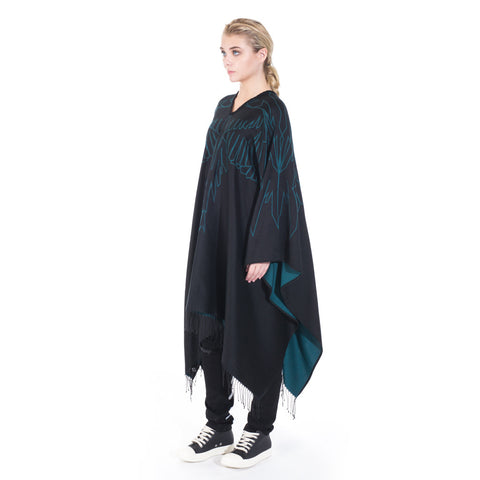 Marcelo Burlon Mai Poncho at Feuille Luxury - 2