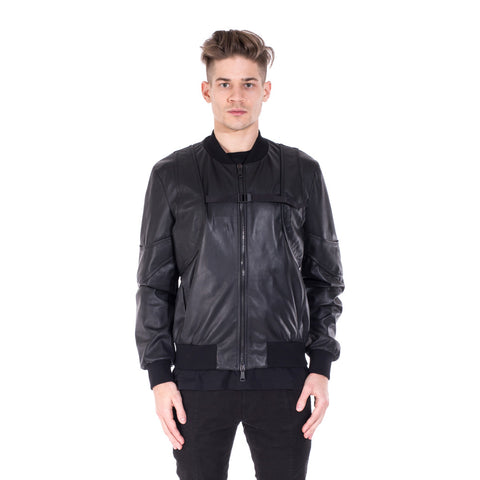 Marcelo Burlon Rawson Leather Bomber at Feuille Luxury - 1