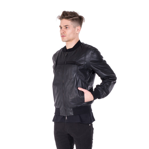 Marcelo Burlon Rawson Leather Bomber at Feuille Luxury - 3