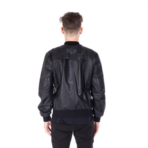 Marcelo Burlon Rawson Leather Bomber at Feuille Luxury - 4