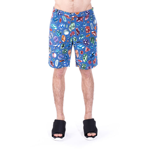 Moschino Diamond Jewel Shorts at Feuille Luxury - 1