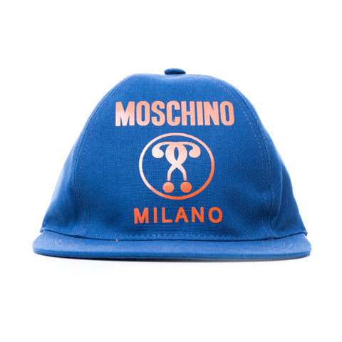 Moschino Question Mark Canvas Cap at Feuille Luxury - 1