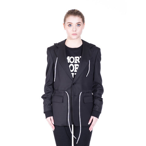 Moschino Hooded Sports Blazer at Feuille Luxury - 2