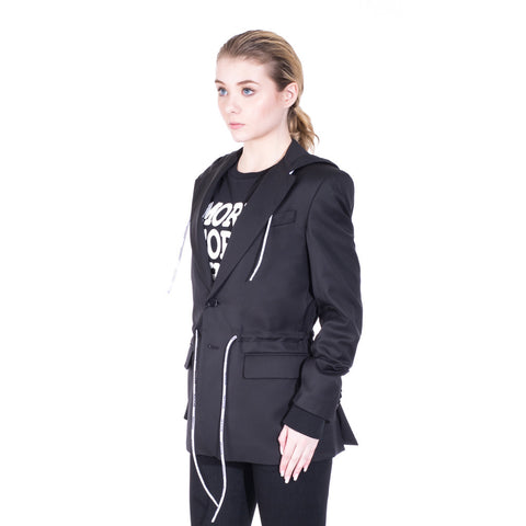 Moschino Hooded Sports Blazer at Feuille Luxury - 5