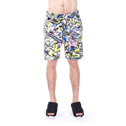 Multi Color Graffiti Shorts