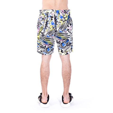Moschino Multi Color Graffiti Shorts at Feuille Luxury - 3