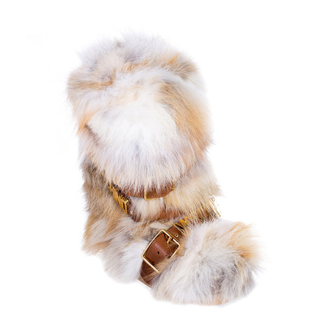 Moschino Ladies Fur Hardware Snow Boots at Feuille Luxury - 2