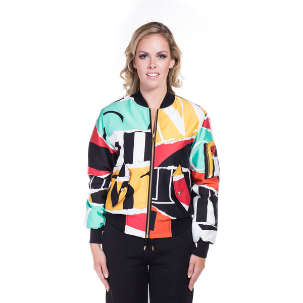 Moschino Ladies Collage Bomber Jacket at Feuille Luxury - 1
