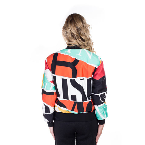 Moschino Ladies Collage Bomber Jacket at Feuille Luxury - 3