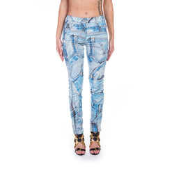 Moschino Ladies Denim Printed Jeans at Feuille Luxury - 1