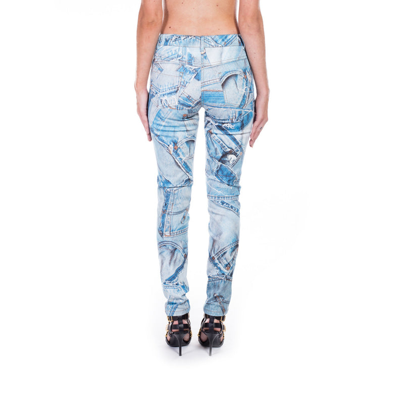 Moschino Ladies Denim Printed Jeans at Feuille Luxury - 3