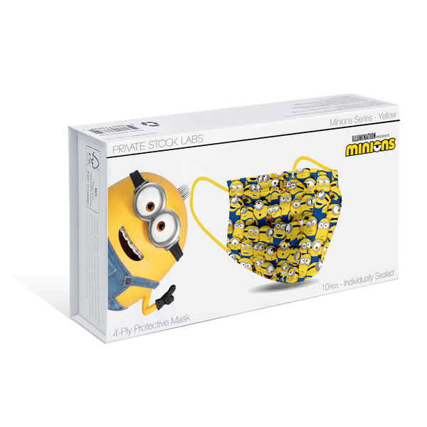 4-Ply Yellow Minions Protective Mask