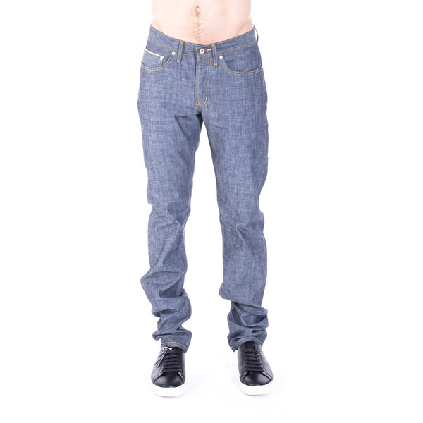 Naked & Famous Denim Weird Guy Indigo Selvedge Chambray at Feuille Luxury - 1