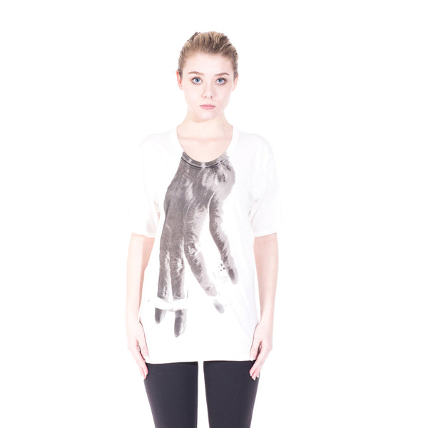 Nude:MM Hand Tee at Feuille Luxury - 2