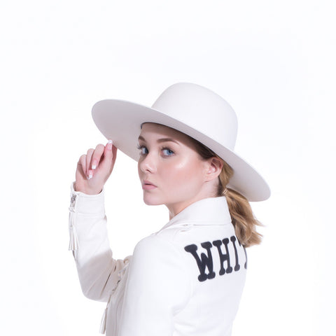 Off-White Wide Brim Hat at Feuille Luxury - 3