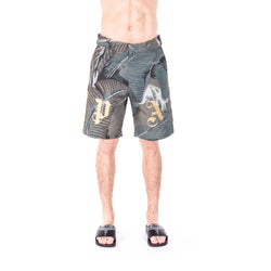 Palm Angels All Over Banana Leaf Shorts at Feuille Luxury - 1