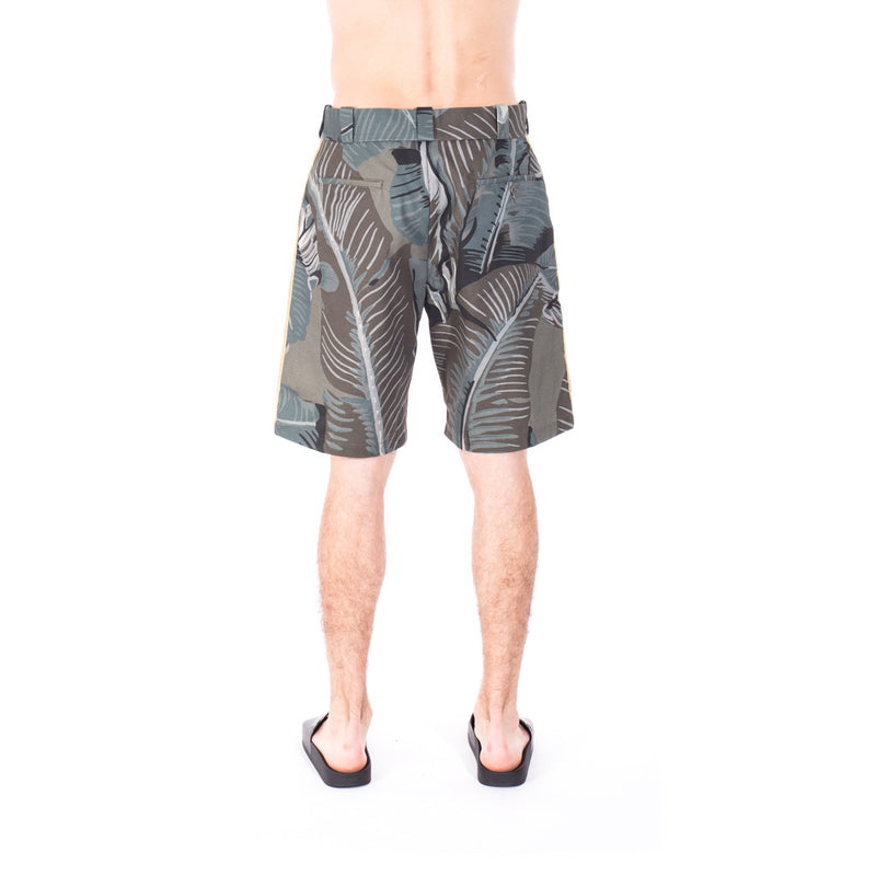 Palm Angels All Over Banana Leaf Shorts at Feuille Luxury - 4