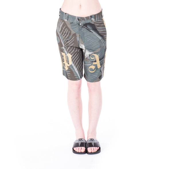 Palm Angels All Over Banana Leaf Shorts at Feuille Luxury - 2