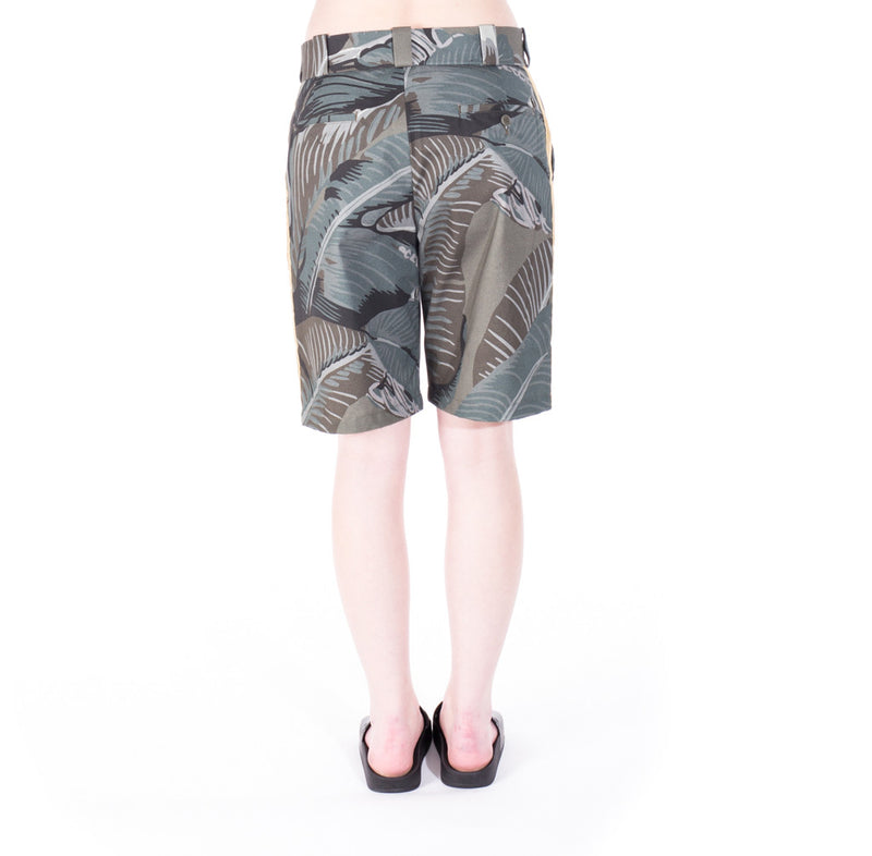 Palm Angels All Over Banana Leaf Shorts at Feuille Luxury - 6