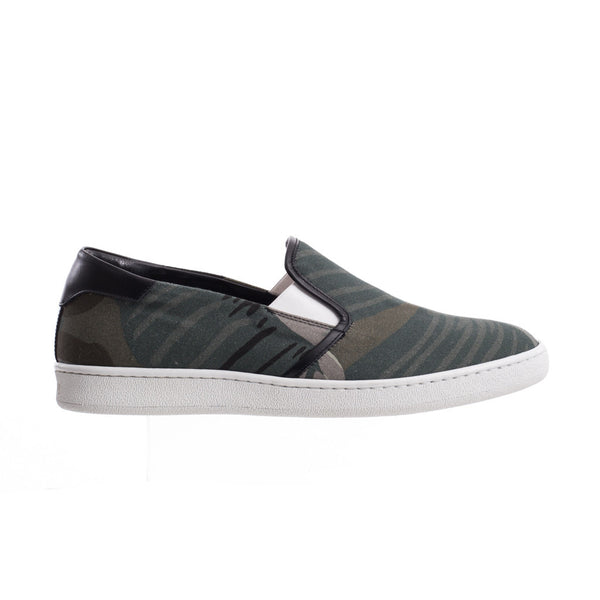Palm Angels All Over Banana Leaf Slip Ons at Feuille Luxury - 1