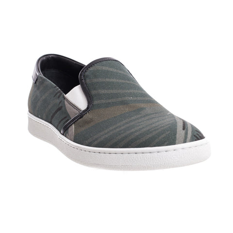 Palm Angels All Over Banana Leaf Slip Ons at Feuille Luxury - 2