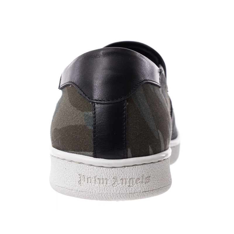 Palm Angels All Over Banana Leaf Slip Ons at Feuille Luxury - 3