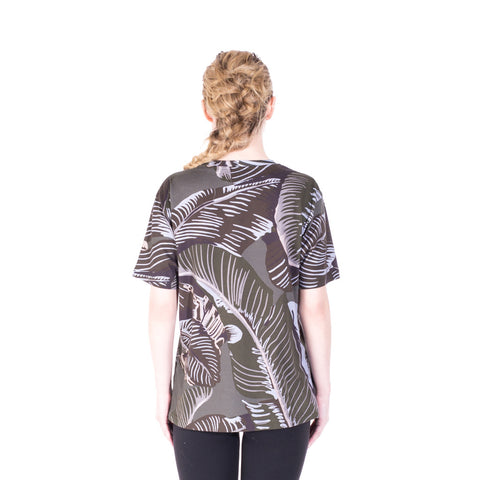 Palm Angels All Over Banana Leaf Tee at Feuille Luxury - 4