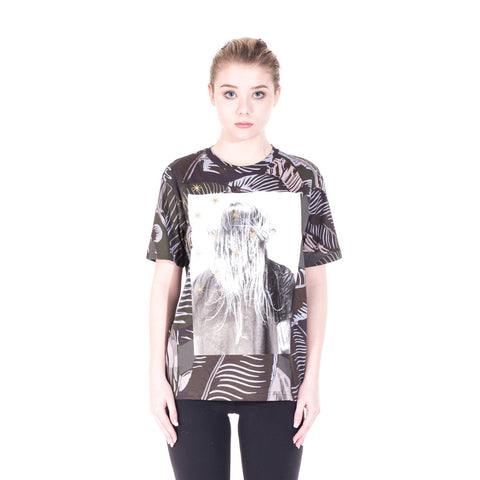 Palm Angels Iconic Angel Banana Leaf Tee at Feuille Luxury - 2