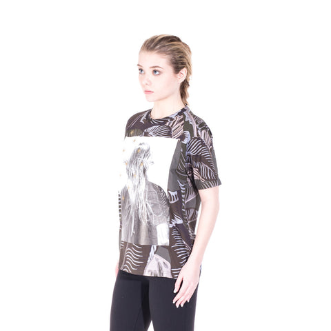 Palm Angels Iconic Angel Banana Leaf Tee at Feuille Luxury - 5