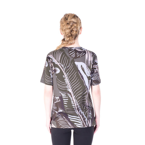 Palm Angels Iconic Angel Banana Leaf Tee at Feuille Luxury - 6