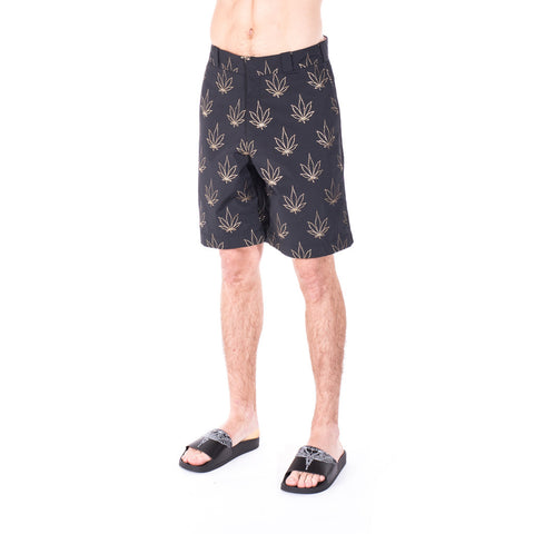 Palm Angels Tuxedo Marihuana Shorts at Feuille Luxury - 3