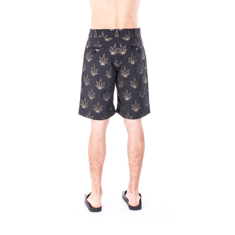 Palm Angels Tuxedo Marihuana Shorts at Feuille Luxury - 4