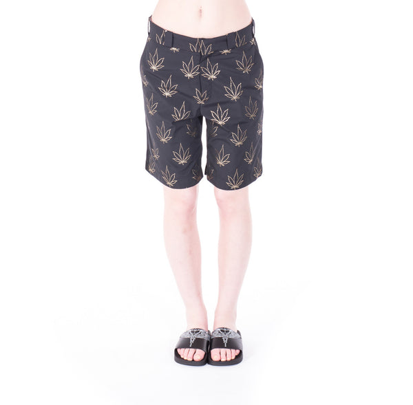 Palm Angels Tuxedo Marihuana Shorts at Feuille Luxury - 2