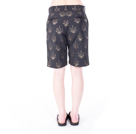 Palm Angels Tuxedo Marihuana Shorts at Feuille Luxury - 6