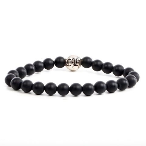 CH Ball Black Bead Bracelet