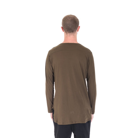StampdLA Chamber Scallop Long Sleeve T-Shirt at Feuille Luxury - 6