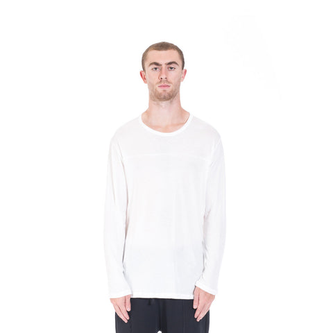 StampdLA Chamber Scallop Long Sleeve T-Shirt at Feuille Luxury - 1