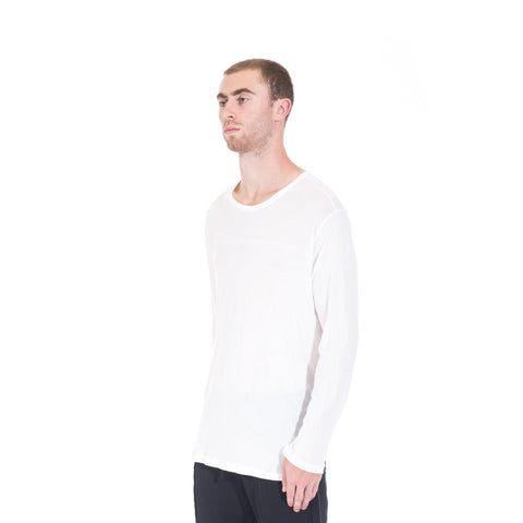 StampdLA Chamber Scallop Long Sleeve T-Shirt at Feuille Luxury - 3