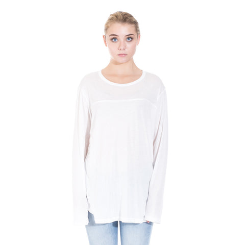 StampdLA Chamber Scallop Long Sleeve T-Shirt at Feuille Luxury - 2