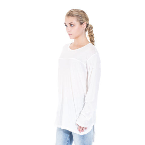StampdLA Chamber Scallop Long Sleeve T-Shirt at Feuille Luxury - 4