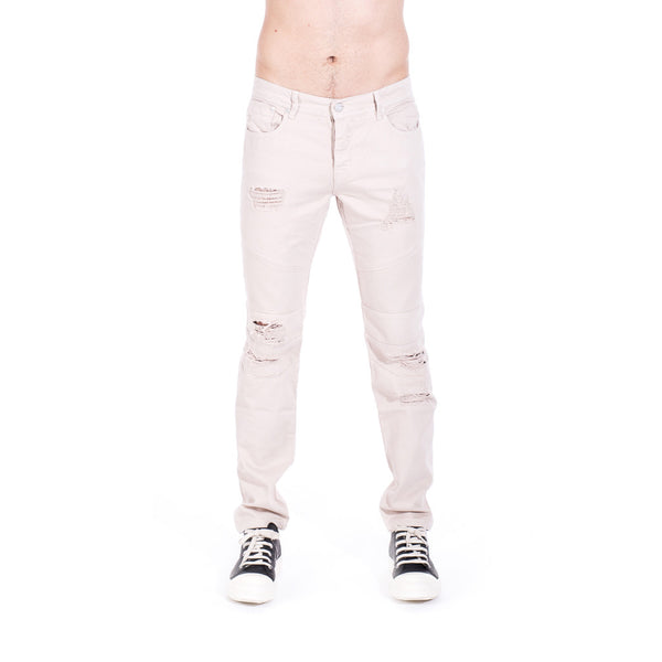 StampdLA Distressed Panel Denim at Feuille Luxury - 1
