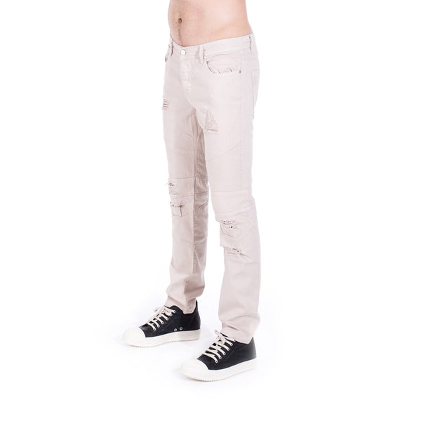 StampdLA Distressed Panel Denim at Feuille Luxury - 2
