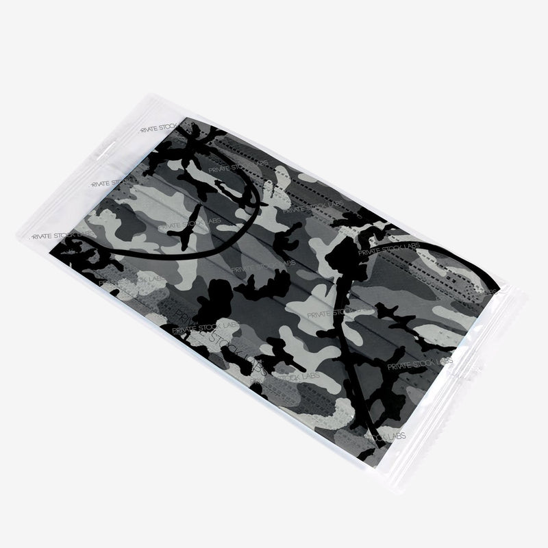 4-Ply Grey Camo Protective Mask